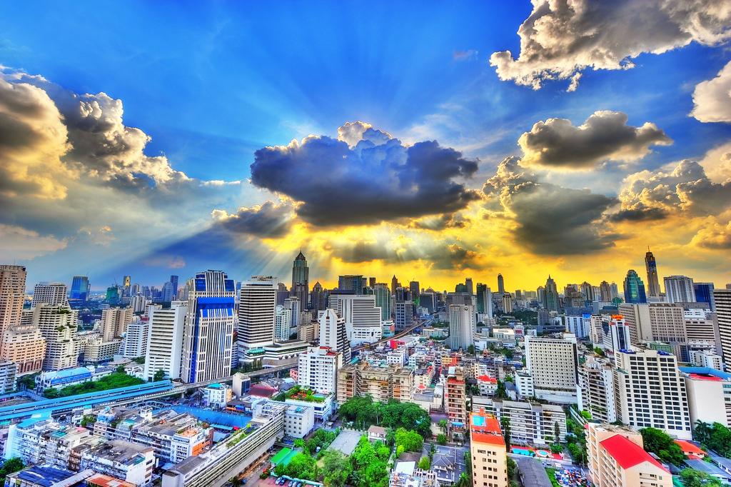 Clouds over Bangkok skies