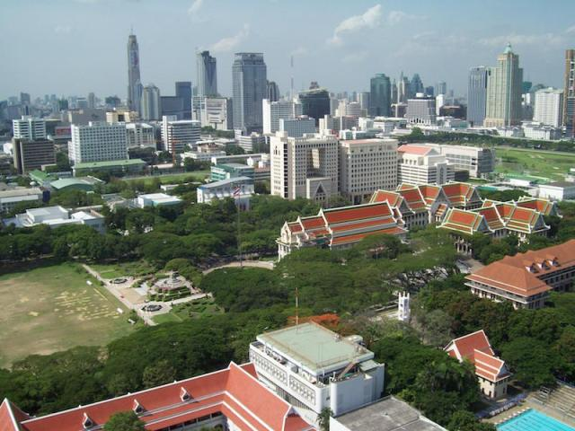 Chulalongkorn University, viewed from 19th floor of Mahamakut Building, Faculty of Science. Photo by Tangmo.