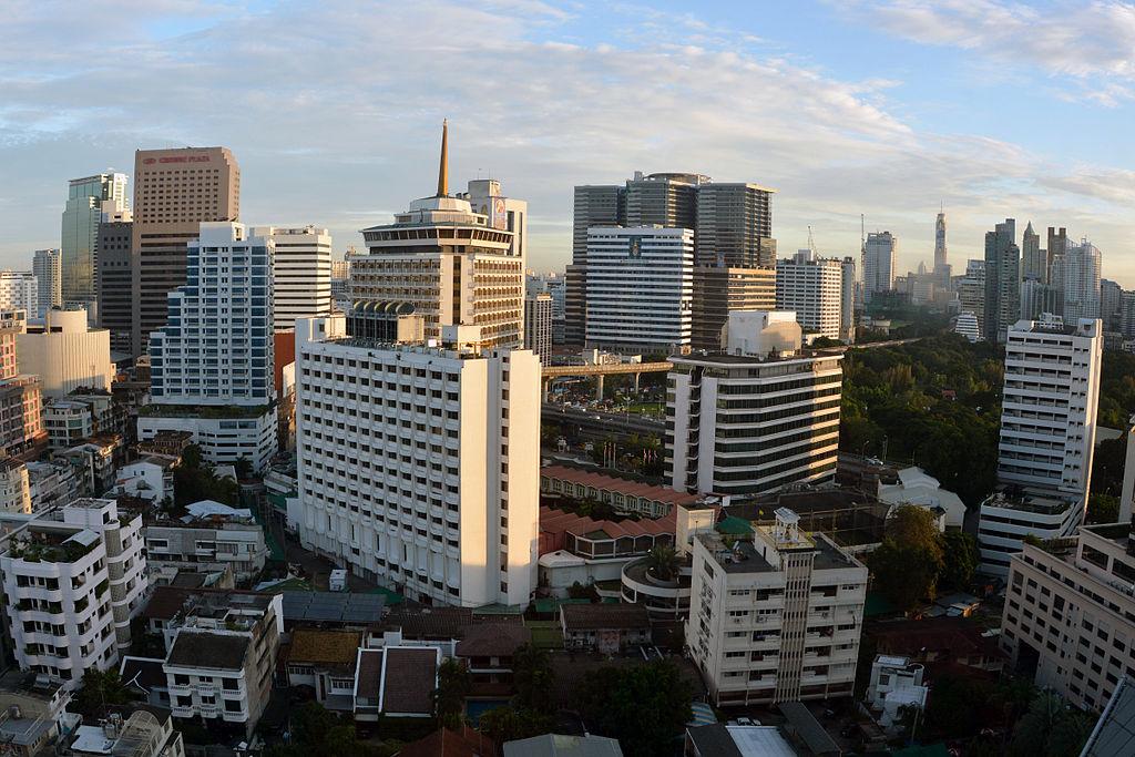 Silom district in Bangkok