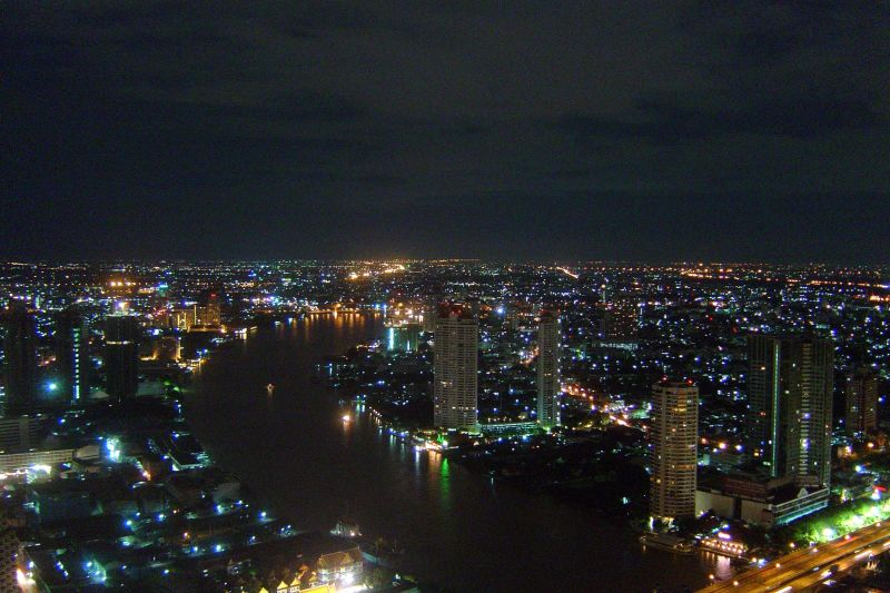 View of Bangkok from Sirocco rooftop restaurant