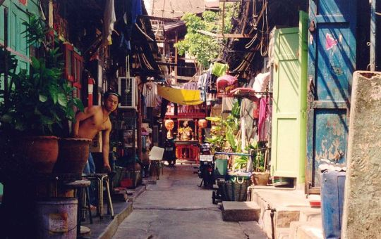 Bangkok back street, street, spoi