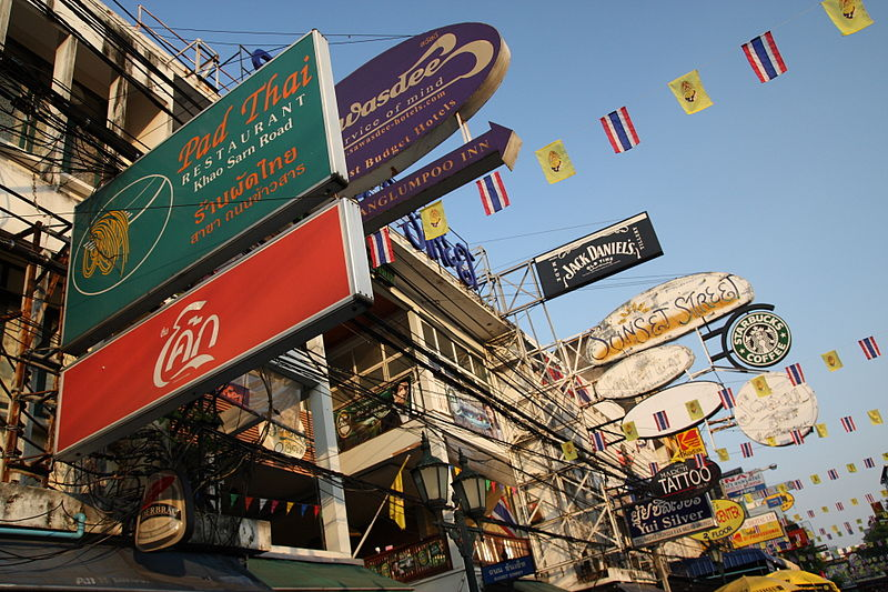 Thanon Khao San in Bangkok