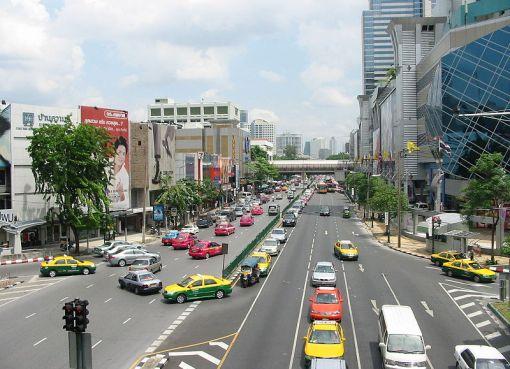 A road in metropolitan Bangkok