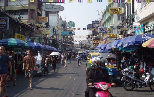 Motorcycle on Khao San Road, Bangkok