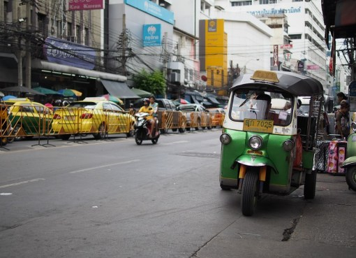 Tuk tuk on a street in Bangkok