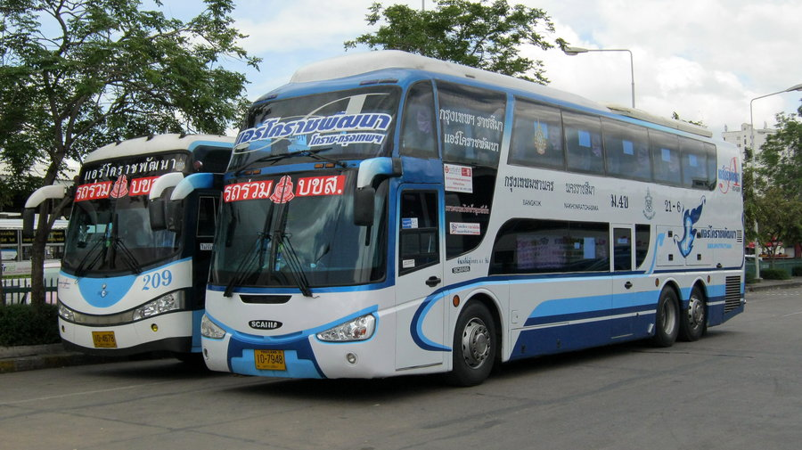 Air Korat Scania Irizar buses at Nakhon Ratchasima bus station