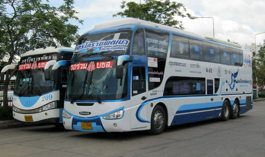 Air Korat Scania Irizar buses at Nakhon Ratchasima bus station