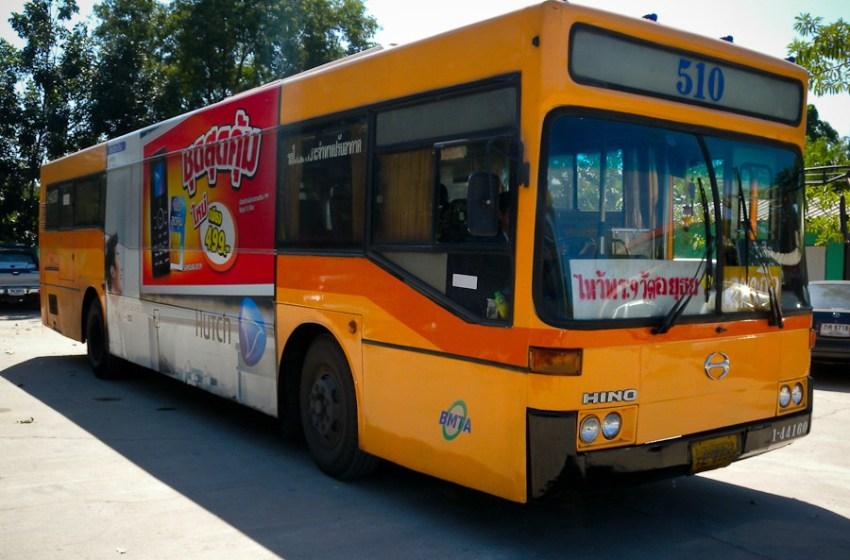 Bangkok BMTA Hino bus in Ayutthaya