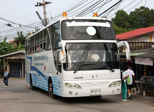 Hino school bus in Laem Chabang, Chonburi