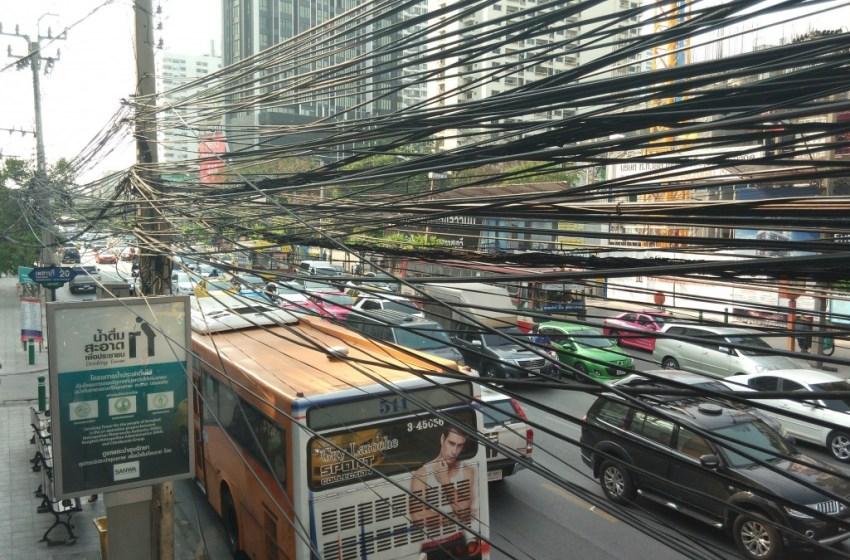 Bangkok's Communication Cables to Go Underground