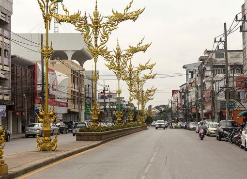Street in Chiang Rai, Northern Thailand