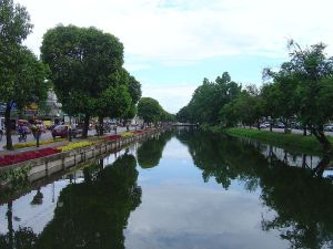 Moat surrounds the Chiang Mai old town