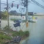 Flooded area in Sri Racha District, Chon Buri