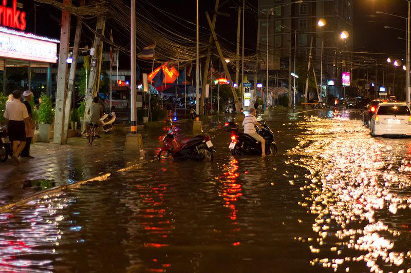 Flooded street
