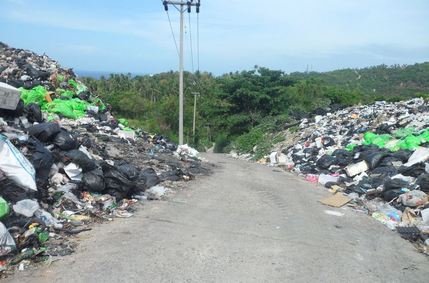 Mountains of trash in Koh Tao