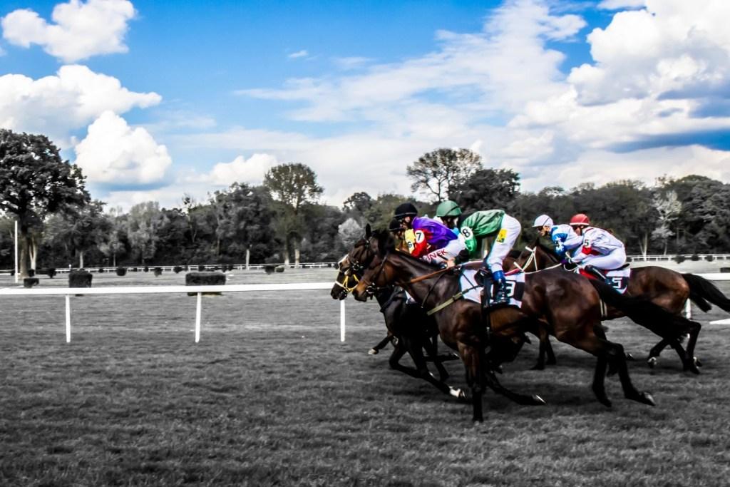 Jockey during a horse racing