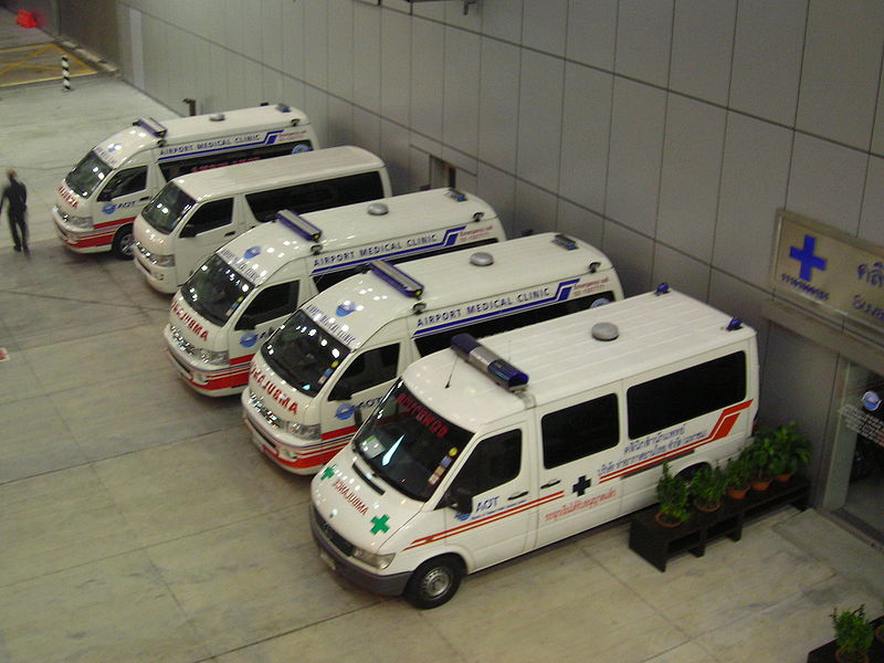 Ambulances at Suvarnabhumi International Airport
