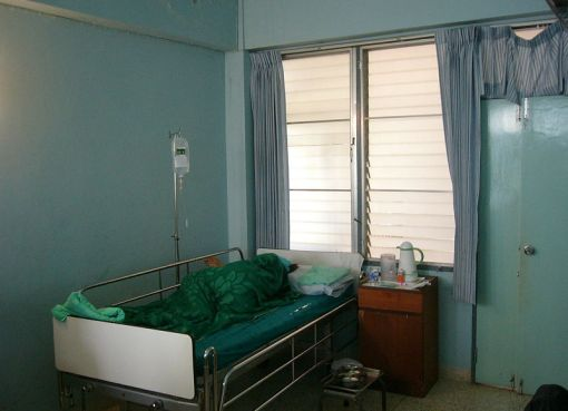 Hospital room in Thailand