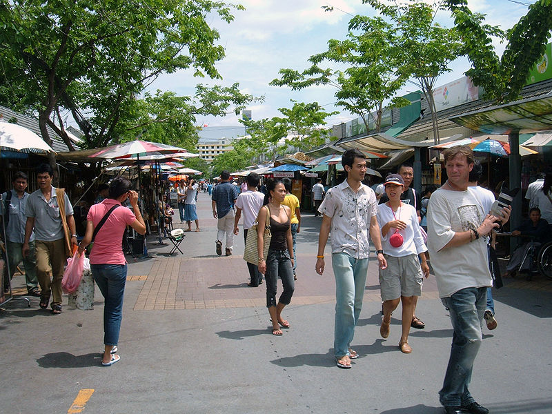 Chatuchak weekend market outdoor in Bangkok