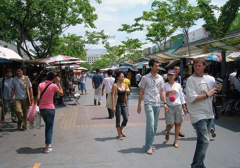 Chatuchak weekend market outdoor in Bangkok