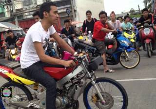 Motorcycle gang in Thailand