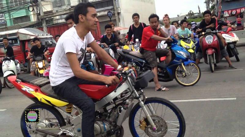 Motorcycle racing gang in Thailand