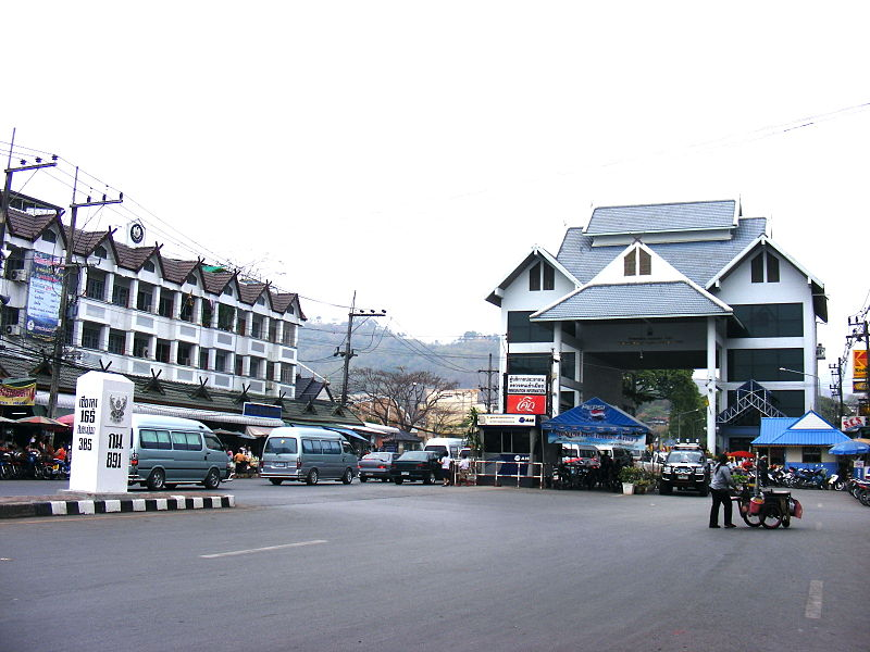 Mae Sai in Chiang Rai is a major border crossing between Thailand and Myanmar