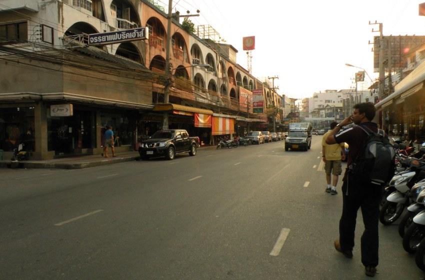 Street of pattaya, during the dusk