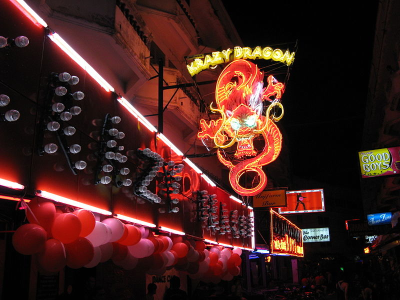Krazy Dragon sign at Sunee Plaza, Pattaya