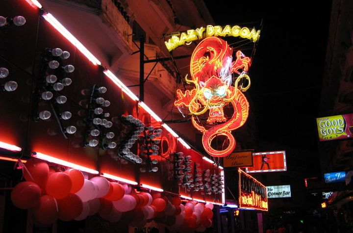 Krazy Dragon sign at Sunee Plaza, Pattaya