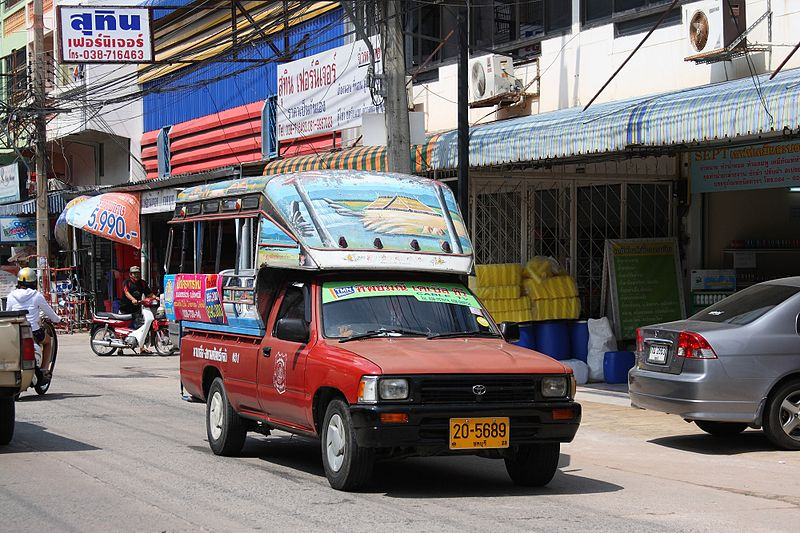 Toyota Hilux Baht bus (Songthaew) in Pattaya