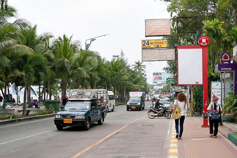 Songthaews on Pattaya Beach Road