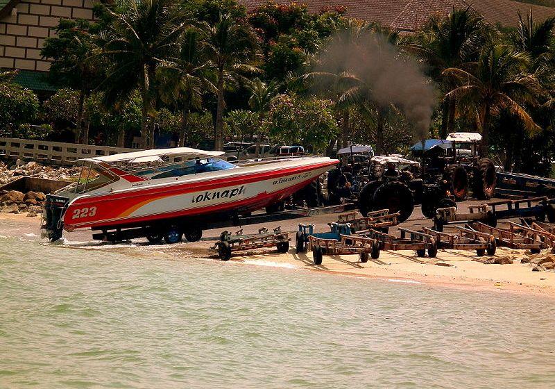Towed speedboat in Pattaya
