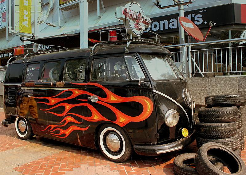 VW microbus in Pattaya