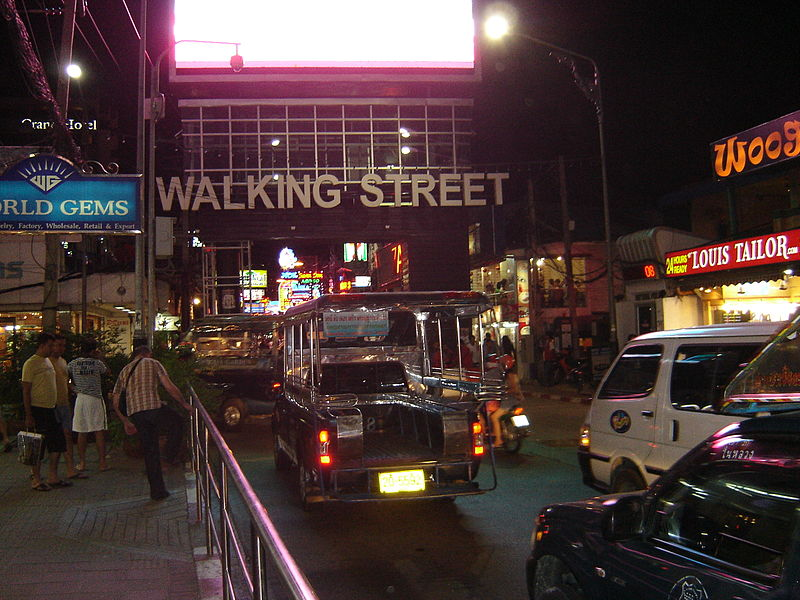 Cars on Walking Street, Pattaya