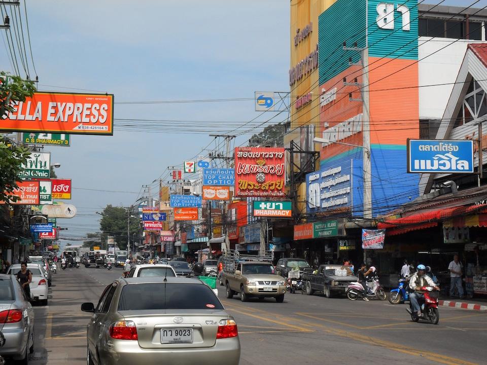 Busy street in Pattaya