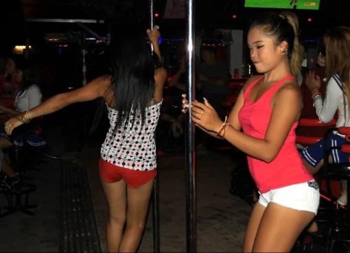 Girls dancing in a Beer Bar in Thailand