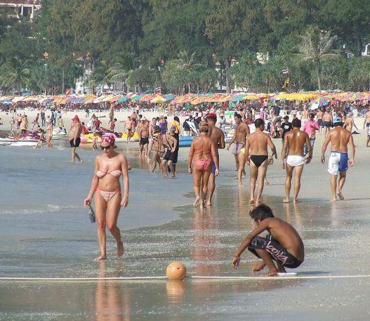 Tourists in Patong beach, Phuket