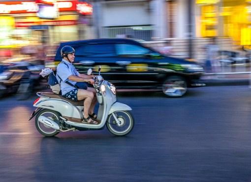 Man riding a motorcycle in Phuket