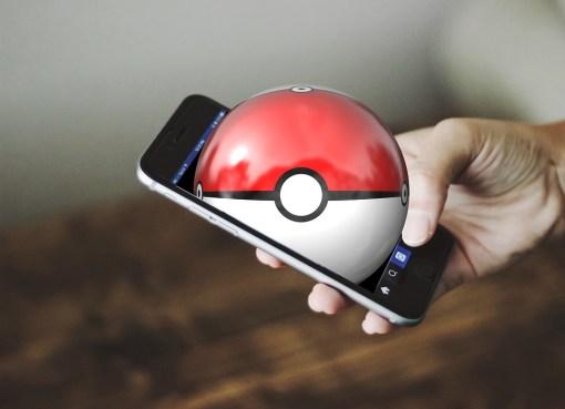 Pokemon Go smartphone and logo