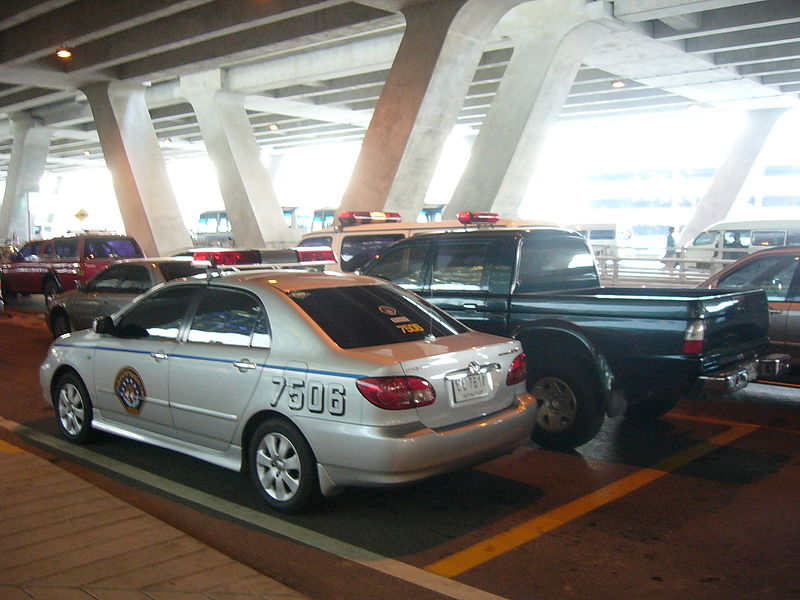 Royal Thai Police Toyota Corolla Altis at Suvarnabhumi International Airport
