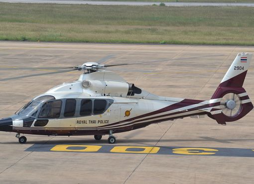 Thai police helicopter Eurocopter EC155 in Khon Khaen