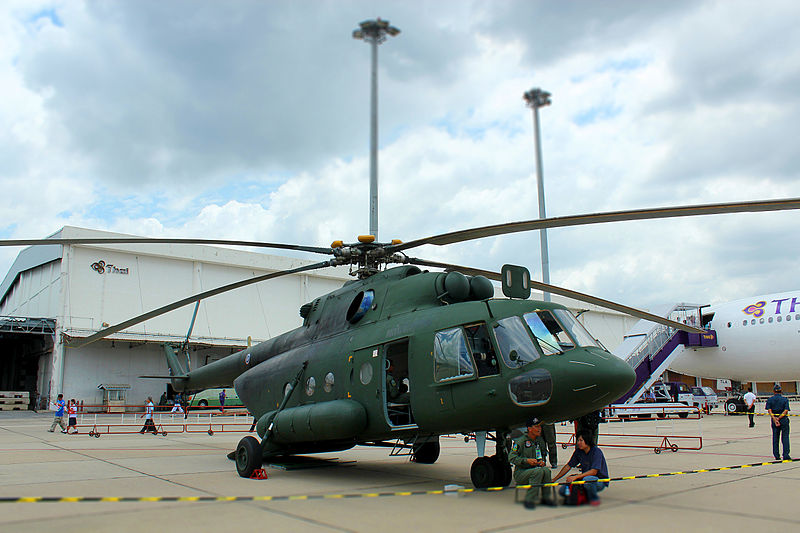 MI-17 V5 helicopter at Don Mueang, Bangkok