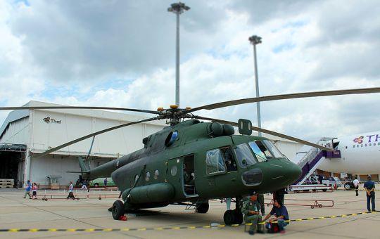 MI-17 V5 helicopter at Don Mueang, Bangkok