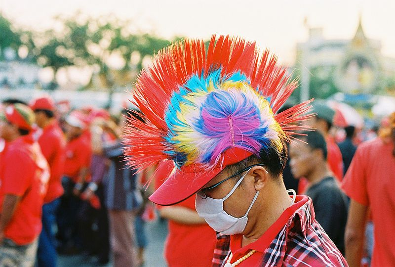 Red shirt sin Bangkok on 23 March 2010