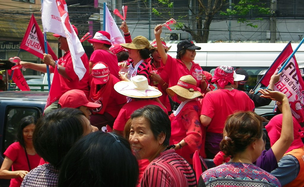 Red Shirt Parade in Bangkok