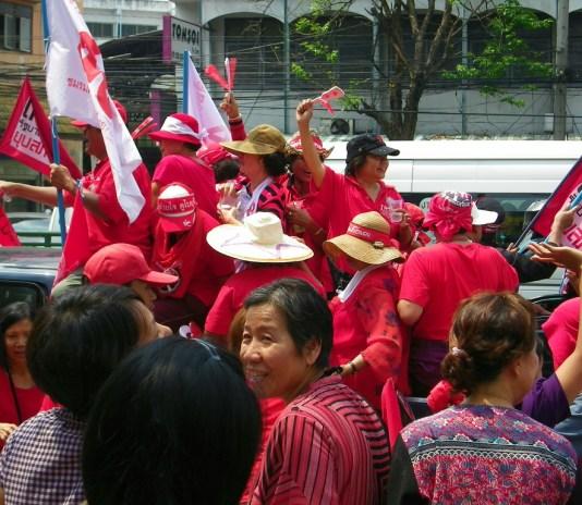 Red Shirt Parade in Bangkok