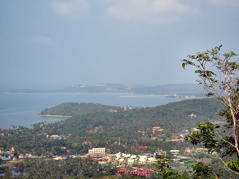 Resort development and villa construction in the hills south of Maenam on Koh Samui