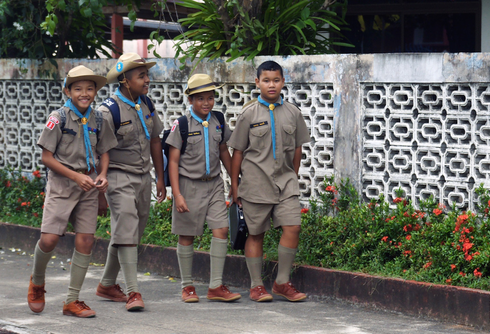 School students in Thailand