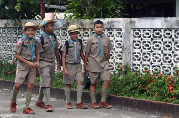 School students in Thailand